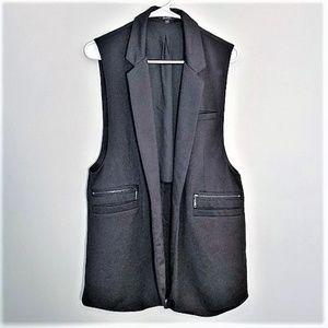 Guess | Long Black Blazer Vest Size L